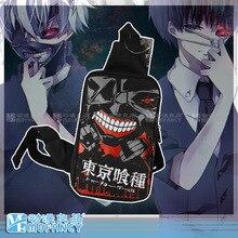 Anime de japón tokio Ghoul mensajero del bolso de hombro Cosplay lienzo adolescente de dibujos animados hombres y mujeres solo bolso de hombro