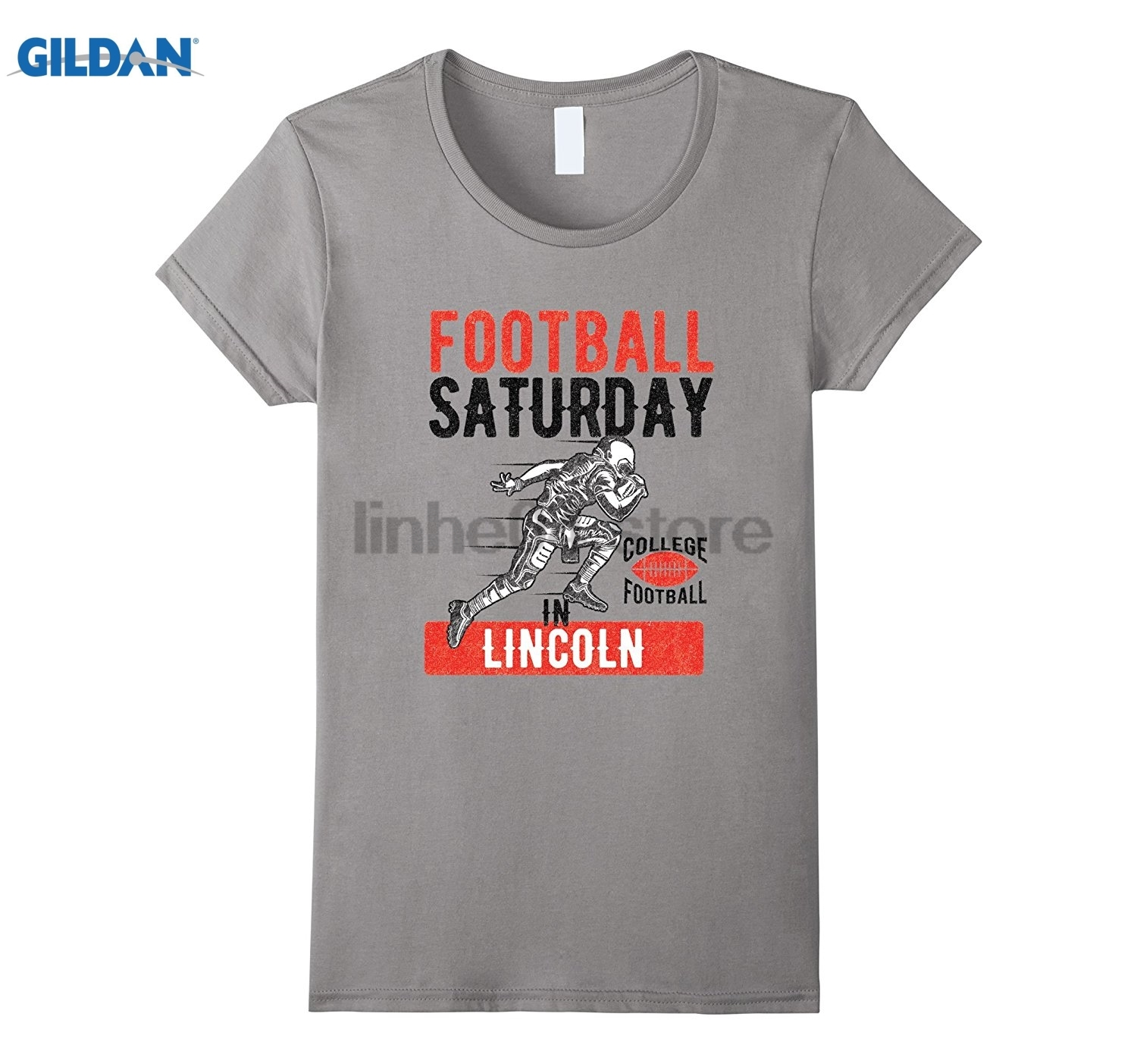 GILDAN Saturday in Lincoln NE Game Day Tshirt Hot Womens T-shirt