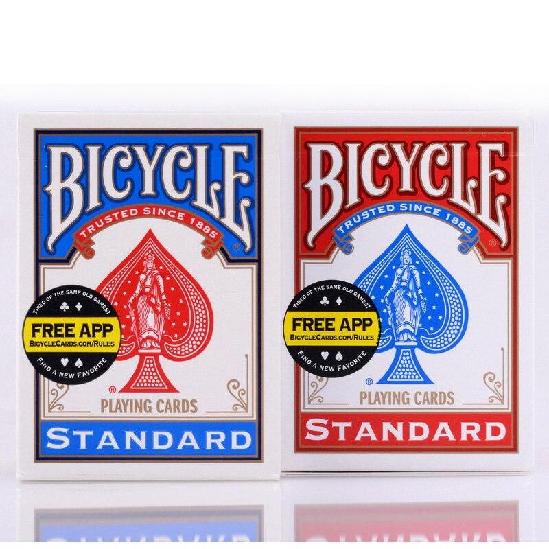 Original Fahrrad Poker Rot/Blau Fahrrad Regelmäßige Spielkarten Reiter Zurück Norm Abgedichtet Decks Magie Spielkarten