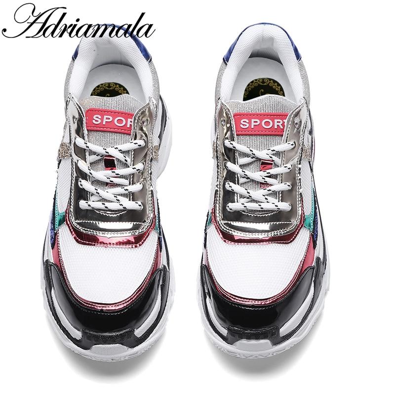 Plate forme Rond Mix Designer Bout Couleur Lace Marque Sneakers Adriamala Chaussures Été Automne As Plat Up 2018 Dames Casual Plates Picture Femmes SqwO4tx