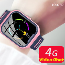 YOLORD Cool 4G AI WIFI Kids Watch GPS+LBS Precise Position SOS Call 680Mah Swimming Photo Video Chat SmartWatch Girl Child Boy(China)