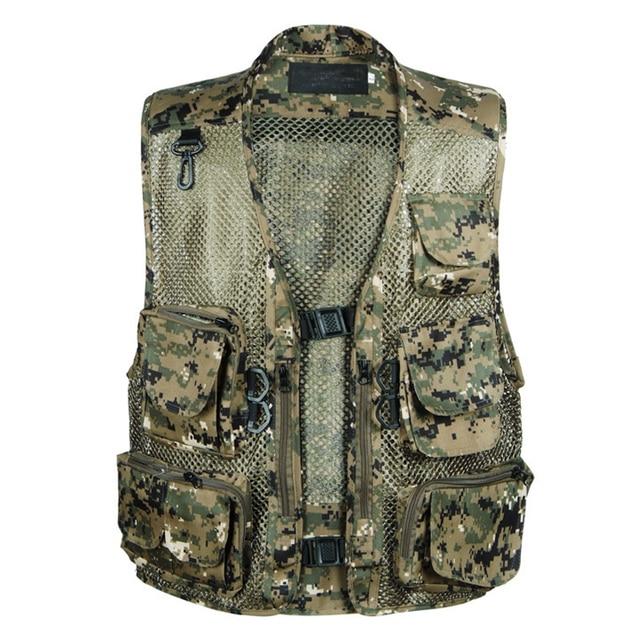 Hot Men Multi-pocket Camouflage Tactical Photography Vest Mens Recreational Vest Casual Outerwear Vest