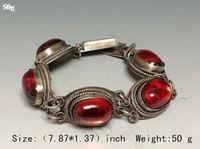 Free shipping@@@@@ China's Tibet dynasty palace MiaoYin inlaid jade bracelet