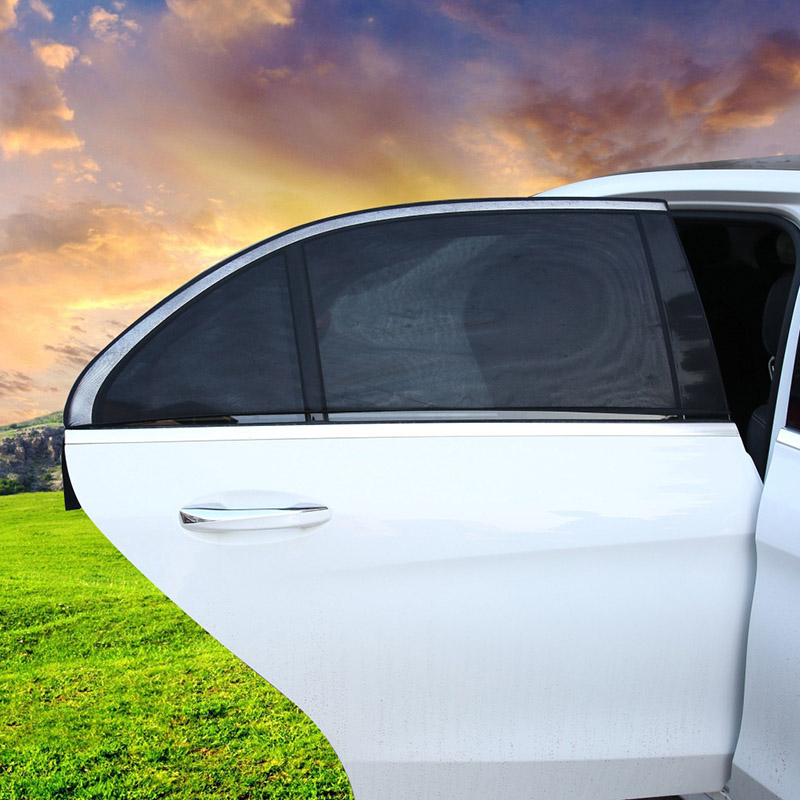 2 PCS Auto Window Film Sun Blocking Auto Windows Ochranný film Black Mesh Tepelně izolované auto Sunblocking Shading