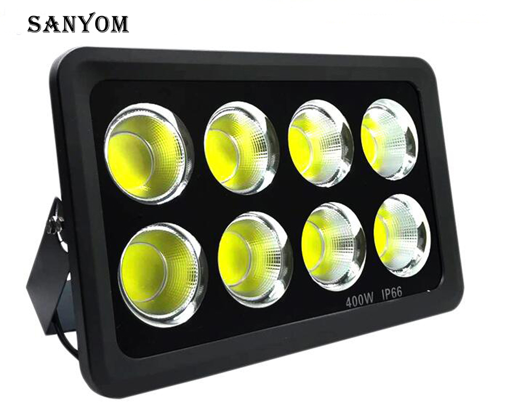 LED High Power 300W 400W COB Waterproof Outdoor Floodlight Billboard Lamp Super Bright Lighting Projection Light Searchlight