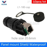M19 quickly assembly Socket RJ45 outdoor Connector Waterproof Ap box metal shielded adapter IP67 Interface Factory sell 10units