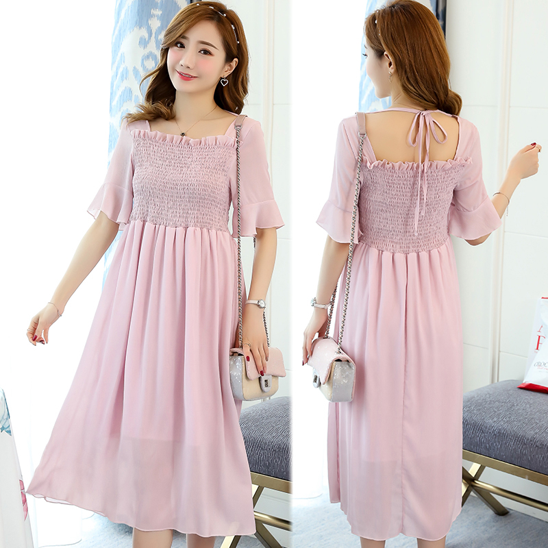 Maternity Dress Casual Pregnancy Clothes Embroidery Cotton Loose Pregnancy Clothing Of Pregnant Women Summer