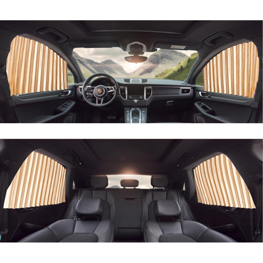 2Pcs Car Sun Shade Protection Car Curtain Car Window Sunshade Side Window Mesh Sun Visor Summer