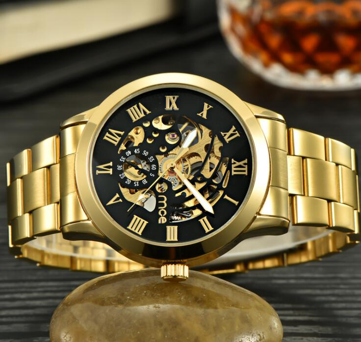 2018 Mens Watches Top Brand Luxury Automatic Mechanical Watch Men Full Steel Business Waterproof Sport Watches Relogio Masculino unique smooth case pocket watch mechanical automatic watches with pendant chain necklace men women gift relogio de bolso
