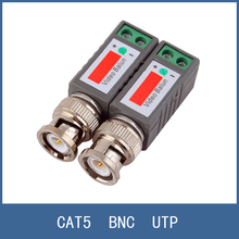 10PCS(5pairs) Wholesale Coax CAT5 Camera CCTV Passive BNC Video Balun to UTP Transceiver Connector , Free Shipping
