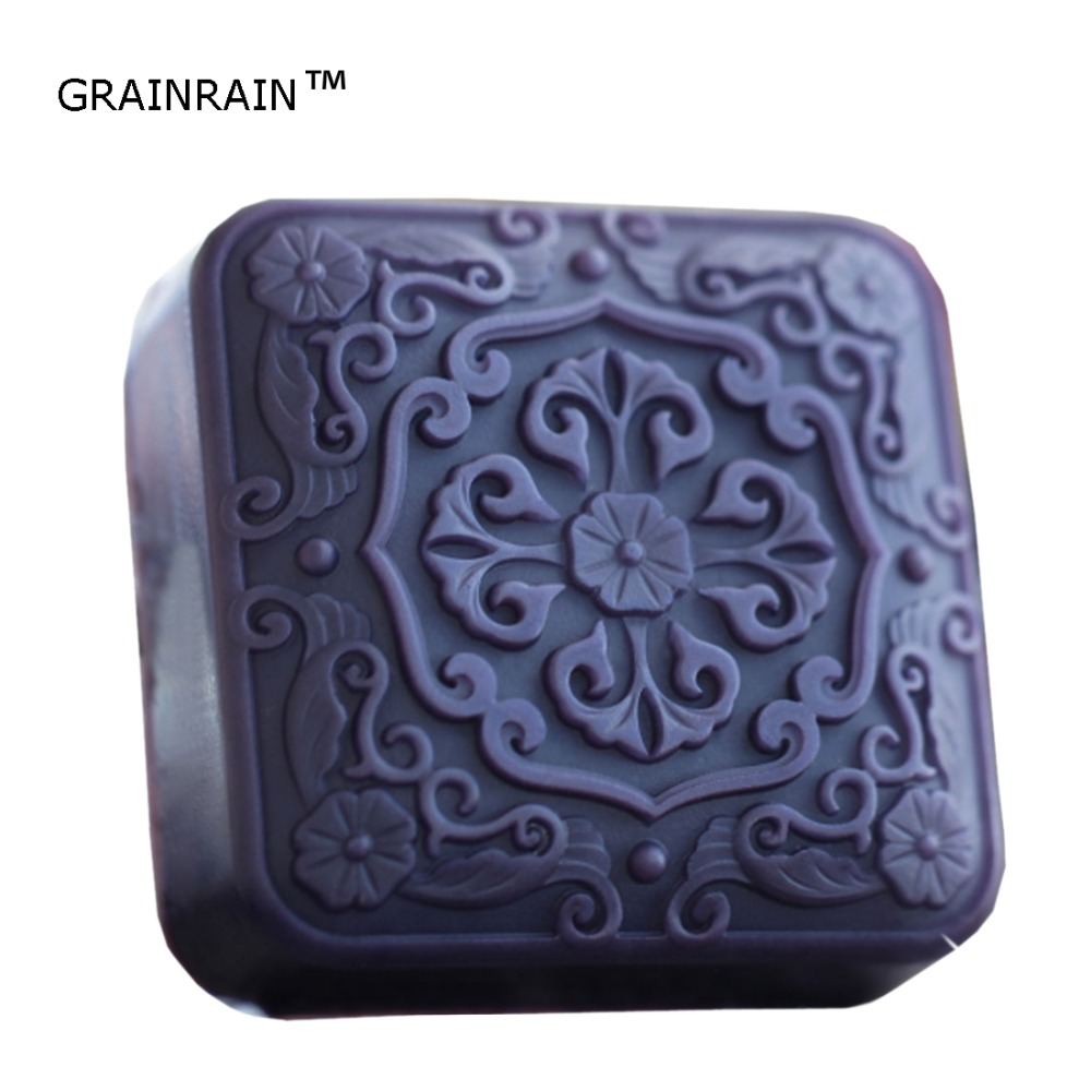 Grainrain Chinese Style Silicone Soap Molds Soap Making Molds Craft Art Resin Mould