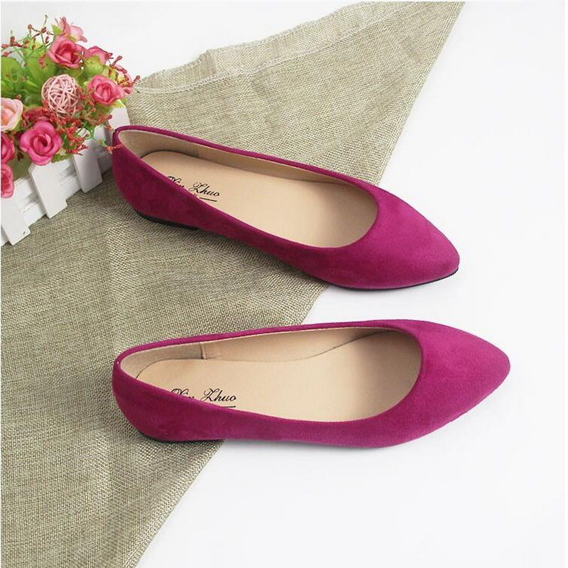 7eec3993161591 Free Shipping 2018 New Arrival Spring and Autumn Women s Loafers pointed  toe Women Flat Heel Shoes