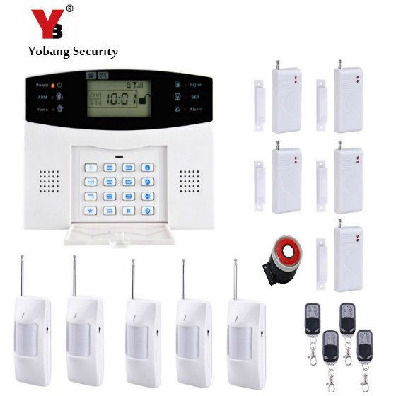 YobangSecurity Metal Remote Control Wireless Wired GSM Home Alarm System English Russian Spanish Voice Prompt Alarm Sensor Kit yobangsecurity english spanish russian voice 4 wire 100 wireless defense zones gsm pstn home alarm system door window sensor kit