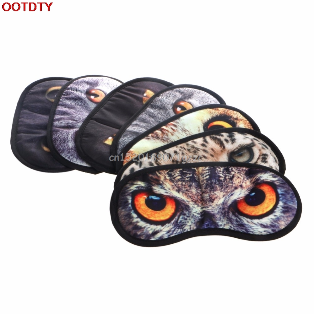 Cute Animal Sleeping Eye Mask Blindfold Relax Sleep Travel Covers Eye-shade #H027#