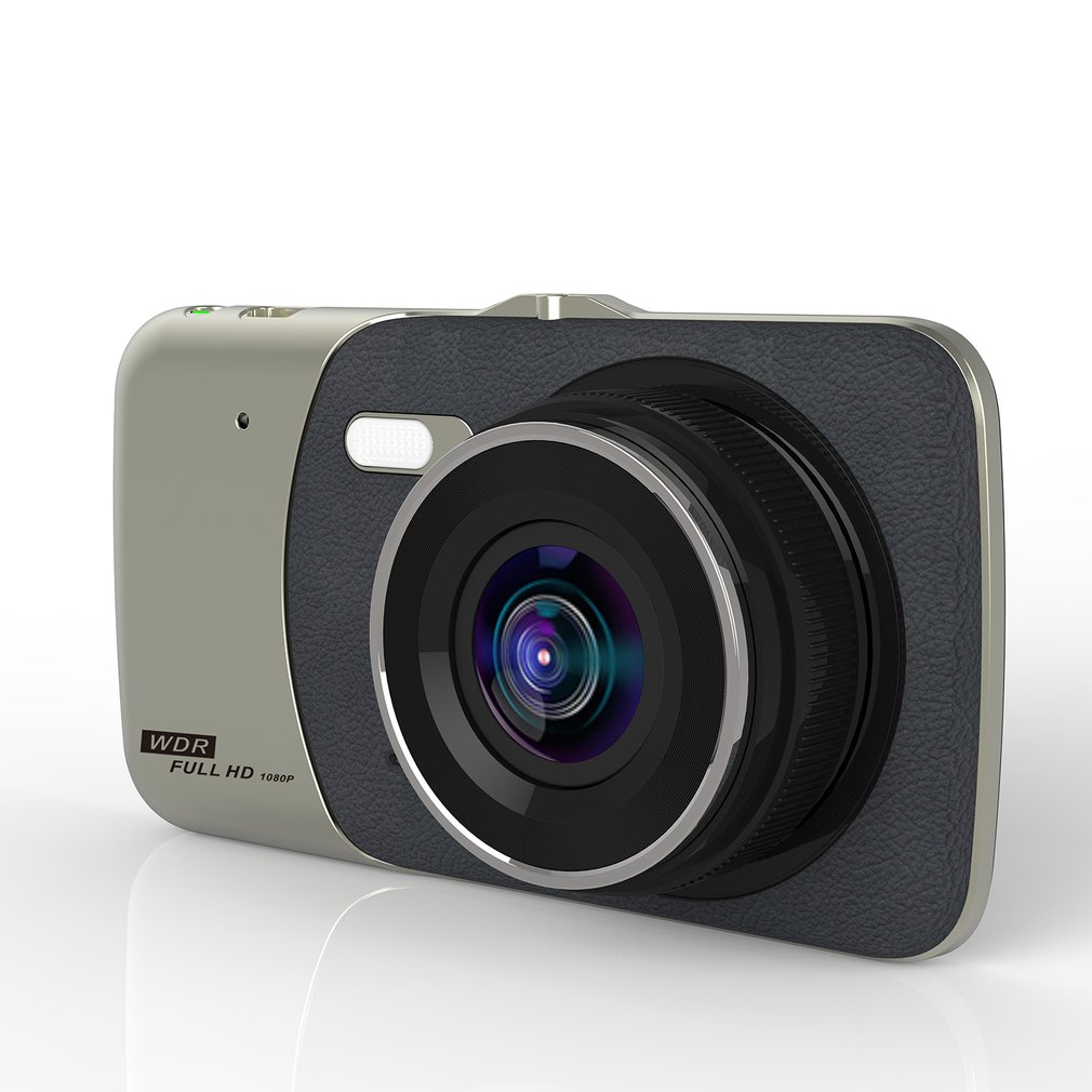 Car DVR Dash Cam 4 inch LCD Dual Camera Reversing Recorder 170degree Wide Angle FHD Nigh ...