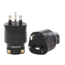 Furutech 13A UK mains plug FI-UK 1363(G) gold plated / FI-UK 1363 (R ) NCF Rhodium plated Top end MATIHUR hifi Japan No box