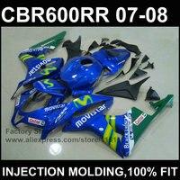 Dark blue fairing kits Injection mold fairing for HONDA CBR 600 RR 2007 2008 cbr600rr 07 08 ABS plastic fairing part