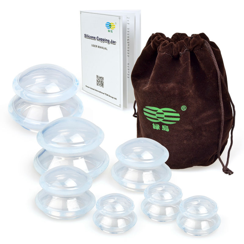 Pics Of Cupping: 7 Cup Premium Transparent Silicone Cupping Set Chinese