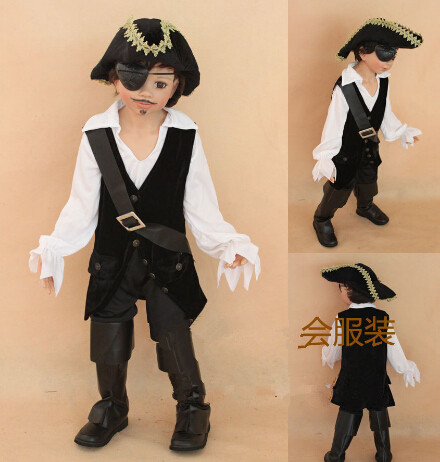 Children's Classic Halloween Costumes Boys Pirate Costume Kids Cosplay Pirate Costume Jack Sparrow Carnival Costume For Kids