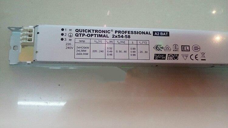 Livraison gratuite QTP-OPTIMAL 1*18-40 W 2*18-40 W 1*54-58 W 2*54-58 W LED puissance de commutation du conducteur T5 T8 DL