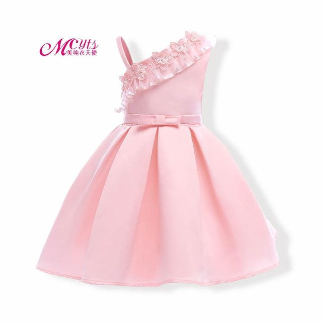 a013f3ea22fa Girls Dress Clothes 2018 Summer Kids Wedding Pageant Designer Formal ...