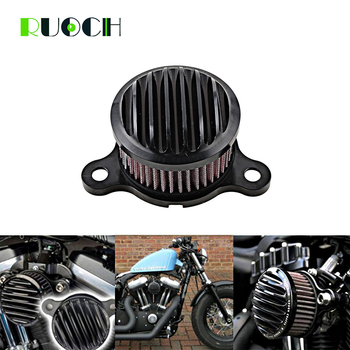 """Motorcycle Accessories 4"""" Air Cleaner Intake Filter System For Harley Davidson Sportster XL883 1200 04-UP"""