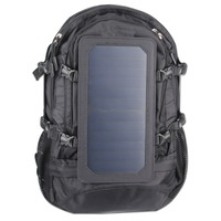 6.5W Outdoor solar cell phone tablet charging large capacity travel backpack hiking package solar panel charging bag