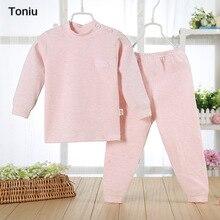 3PCS/lot kids baby pajamas jammies suit children's warm underwear baby boys girls pajamas sets winter spring clothes sleepwear
