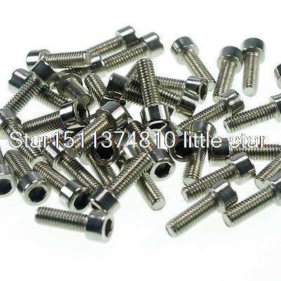 Lot20 Metric Thread M8*100mm Stainless Steel Hex Socket Bolt Screws