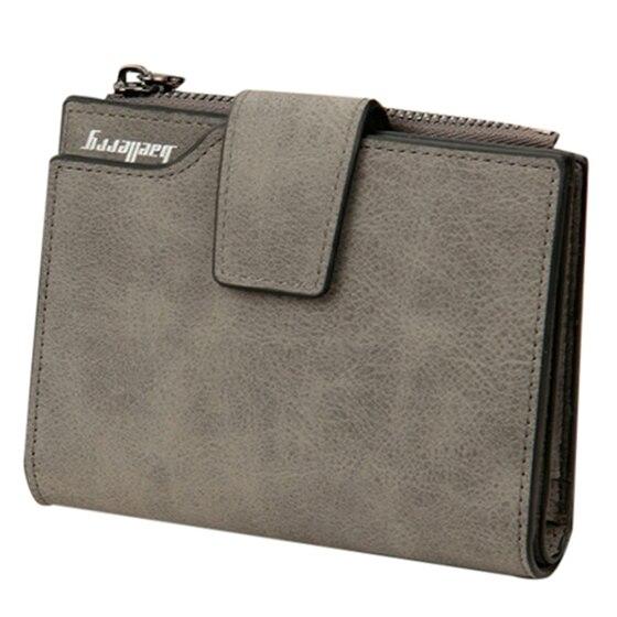AFBC baellerry PU leather Ladies vertical matte zipper buckle multi-card bit coin Wallet 12*10*2.5cm