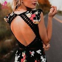 Bellflower Boho Dress Women Print Elegant Vestido Sexy Maxi Deep V Neck Backless Summer Dress Women Asymmetrical Long Dress