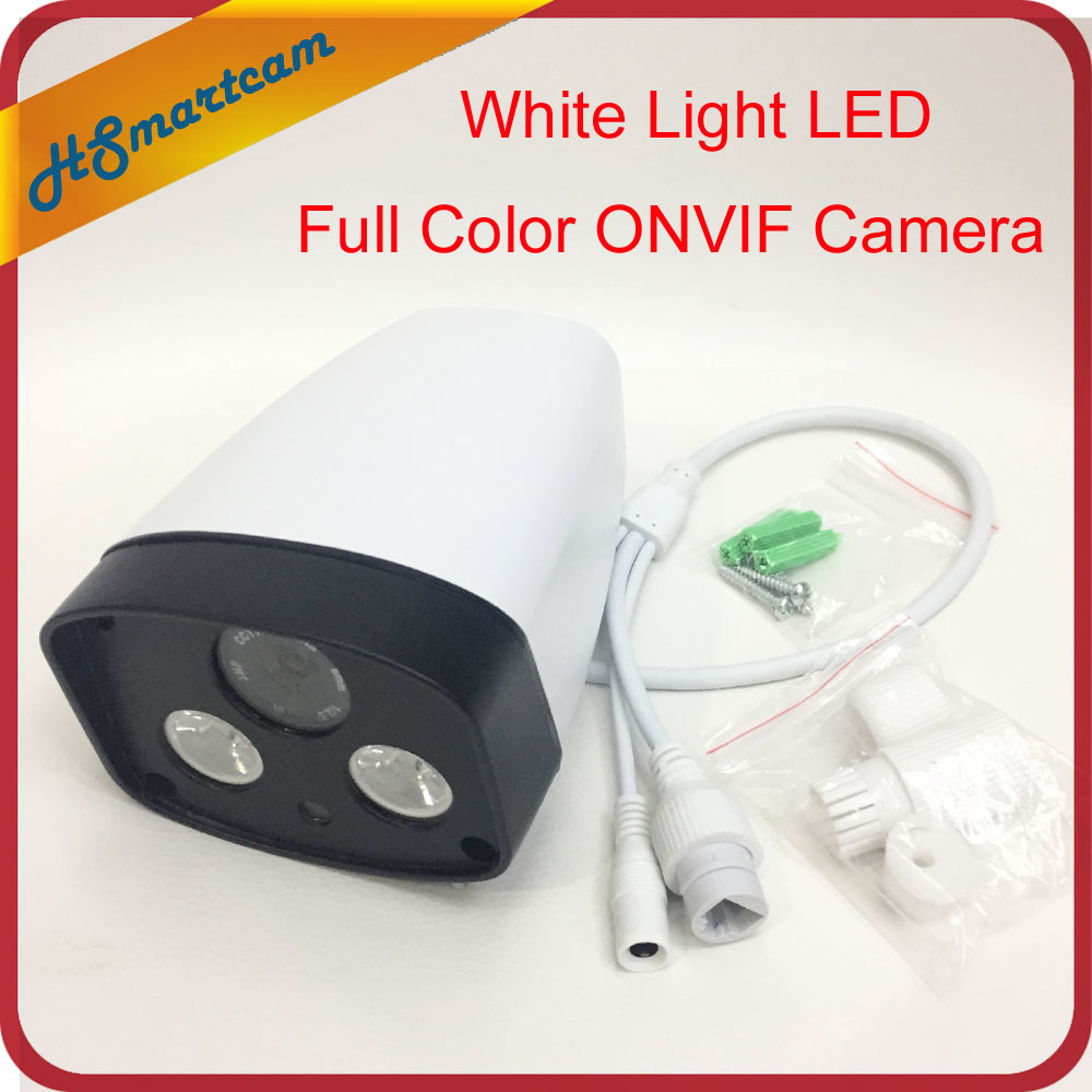 HD Network 960P IP Camera 2pcs Array White Light Leds Outdoor Waterproof Security CCTV ONVIF Full Color Camera wistino cctv camera metal housing outdoor use waterproof bullet casing for ip camera hot sale white color cover case