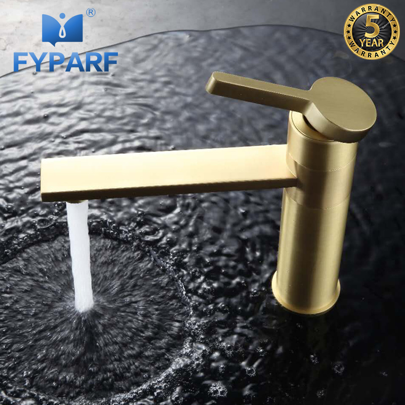 FYPARF Waterfall Tap Vessel Sink Faucet Mixer Water Taps for Bathroom Gold Faucet Brass Basin Faucet Black Bathroom Tap Cold Hot fyparf waterfall bathroom faucet single handle sink faucet hot cold bathroom water mixer tap brass wall mounted basin faucets