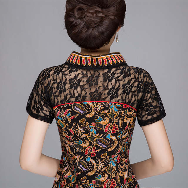 31456b9dda939 Brand Designer 2018 Summer New Women Cotton Linen Shirt Top Chinese Style  Lace splicing Blouse Tradition