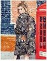 Melinda Estilo 2016 novos das mulheres da forma padrão de impressão do exército trincheira mulheres outwear trincheira frete grátis
