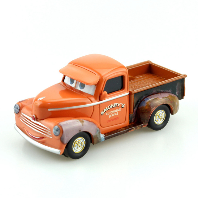 disney pixar cars 3 smokey 1 55 scale diecast metal alloy modle cute