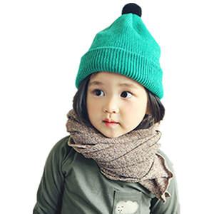 4fb834e8602b6 HENGZHEAPPAREL baby hair knitted hats with kids beanies cap