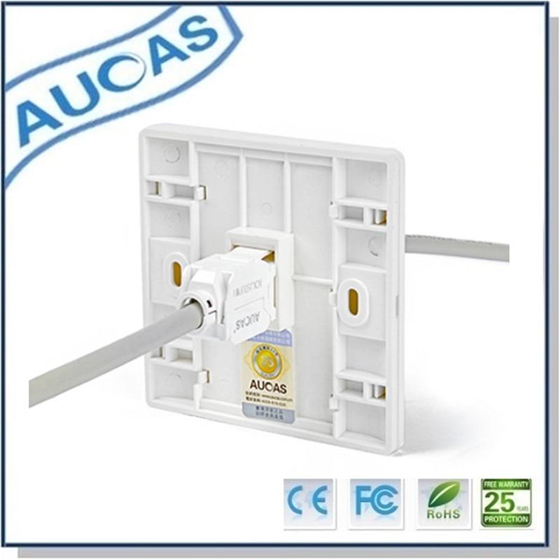 Aucas 4 հատ 1 Պորտ Դեմքի ափսեի - Համակարգչային մալուխներ և միակցիչներ - Լուսանկար 3