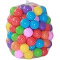 100 pçs/lote ecologicamente correta colorido plástico macio piscina de água do oceano onda bola bebê engraçado toys estresse bola de ar ao ar livre esportes diversão