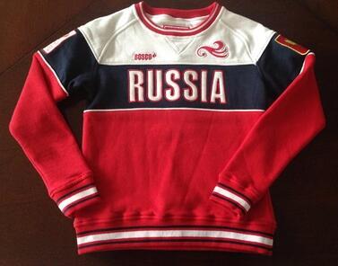 brand russia Bosco sport autumn winter fleece cycling pullover sweatshirt russian boy child sports sport jersey High quality