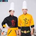Cook suit long-sleeve autumn and winter uniform pastry tabnab work wear dragon embroiery chef uniform