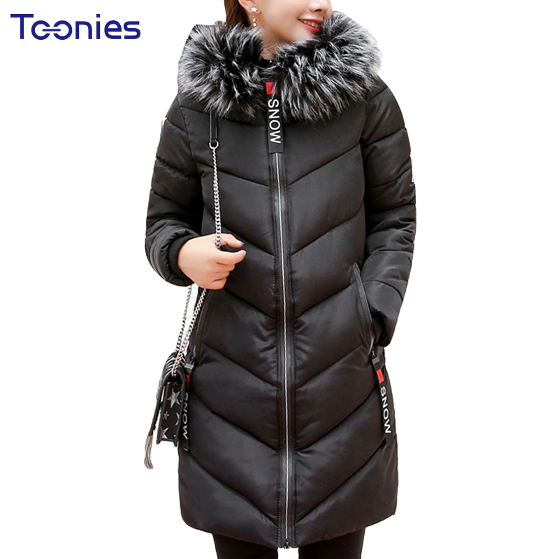 Winter Collection Women Parkas Thick Overcoat Jacket With Faux Fur Hooded Letter Zipper Female Wadded Coat Outwear Warm 2017 new arrival parkas winter warm women coat hooded fur collar outerwear female thick wadded jacket spliced casual style overcoat