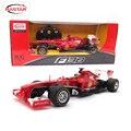 Rastar 1:18 4ch rc licencia coche de control remoto coche de juguete de máquinas en la radio controlada toys para niños niños regalos f1 53800