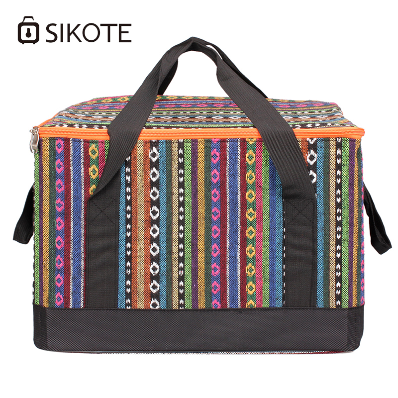 SIKOTE 28L Large Aluminum Foil Ice Pack Bags Heat Preservation Lunch Cold Outside Warm Insulation Packs Environmental Health Bag electric lunch box double layer stainless steel liner cooking lunch boxes multifunction plug in lunch box steamed rice steamer