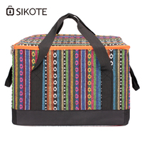 SIKOTE 28L Large Aluminum Foil Ice Pack Bags Heat Preservation Lunch Cold Outside Warm Insulation Packs Environmental Health Bag
