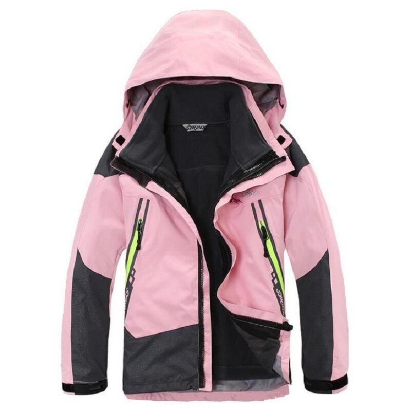 Camping Climbing Kids 3in1 Outdoor Sport Waterproof Jacket Girls Boys Hiking Coat 8 16y Child Fleece Liner