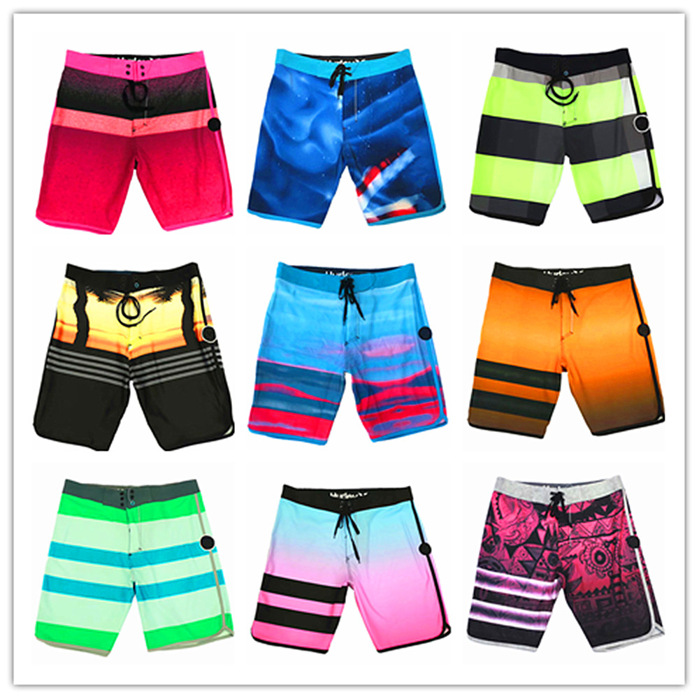 Summer 2019 Brand Fashion Phantom Beach   Board     Shorts   Swimwear Men 100% Quick Dry Elastane Sexy Mens Boardshorts Hawaiian   Shorts