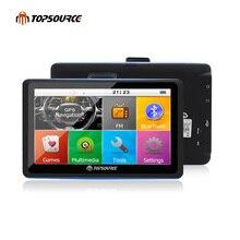 TOPSOURCE 7 Polegada Retrovisor AVIN WinCE 6.0 Bluetooth de Navegação GPS Do Carro câmera 8 GB/256 MB Europa Mapa Navitel navegador gps Do Veículo