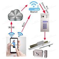 Wi Fi видеодомофон Беспроводной ip домофон interfone глазок камеры, global mobile видео телефон двери DHL Бесплатная доставка