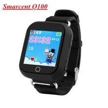 Original Q100 (Q750) gps bebé smart watch pantalla táctil wifi gps location niños relojes q90 pk apoyo 2g tarjeta sim de la red russion